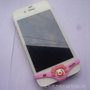 供应粉色小丑手机内裤 硅胶手机内裤 立体滴胶手机套