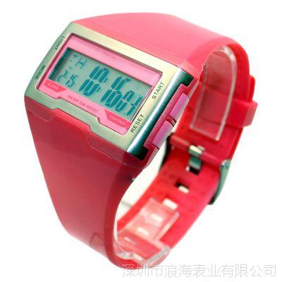 秀气可爱形女生手表 糖果色儿童电子手表 时尚环保硅胶学生手表