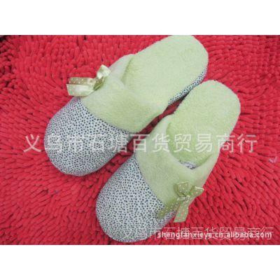 家居家棉拖鞋小碎花冬季保暖棉鞋靴批发