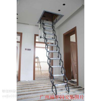 呼和浩特阁楼电动伸缩电梯 阁楼楼梯多少钱 赤峰全自动阁楼伸缩楼梯