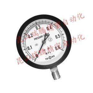 供应TOKO东洋計器压力表BL-AT-R3/8-75mmx0.6Mpa不锈钢压力表