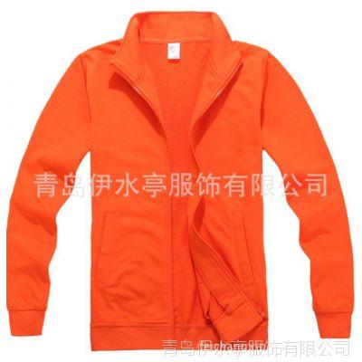 【XY104CWM】260克全棉毛圈立领拉链卫衣 5色 现货批发 厂家直销