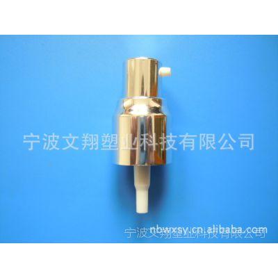 20/410鸡嘴亮金全电化铝外置弹簧乳液泵粉泵真空瓶洗手液泵头喷雾