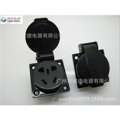 YD-54国标五孔防水插座 CCC认证五孔插座 带盖子新国标工业插座