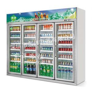 供应深圳冷柜公司四门饮料展示柜冷藏展示柜