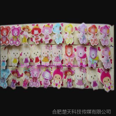 时尚韩版发夹批发 亚克力边夹 刘海夹 鸭嘴夹 一字夹卡通儿童饰品