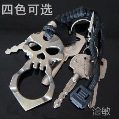 防身骷髅指虎防狼武器 女子防身用品 防卫暗器户外自卫工具 EDC