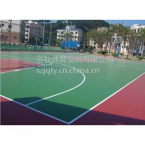 供应丙烯酸运动场地 丙烯酸篮球场材料施工 篮球场施工造价