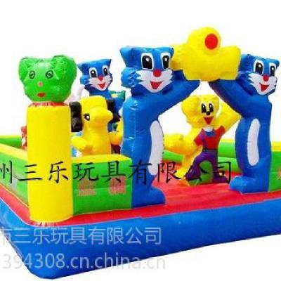 供应蓝猫充气城堡  2014年新款式时尚充气玩具  PVC充气城堡