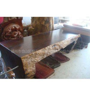 供应福州根天下黑檀实木大板老板办公桌办公家具大板桌餐桌书桌平桌