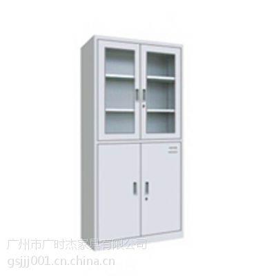 广时杰CX-028铁皮文件柜 上移门资料柜 下铁皮掩门档案柜 钢制储物柜