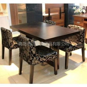供应青岛酒店桌椅厂家 专业批发定做 酒店餐桌餐椅 中西餐桌椅卡座沙发高档餐厅 桌椅家具定做翻新