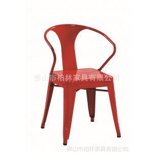 供应金属餐椅批发 烤漆椅子 黑色 实惠的户外餐椅