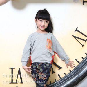 供应厂家低价批发儿童纯棉长袖T恤女童时尚打底衫正品优TWO秋装8279款上衣