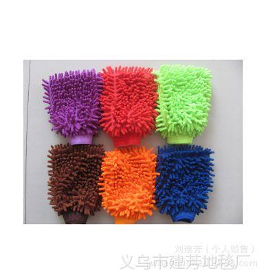 批发擦车手套汽车用品 单面双面 珊瑚虫手套 清洁工具 洗车手套