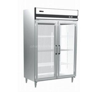 供应双门玻璃展示柜 制冷 制冷设备