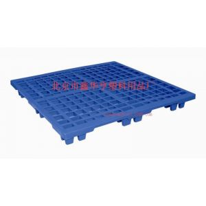 供应北京市鑫华亨塑料用品厂家直销塑料托盘、地台板、网格轻型网格九脚1212