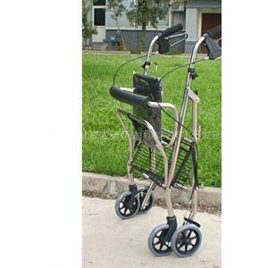 供应老人带轮带座信步牌不锈钢豪华多功能助行车(折叠后)