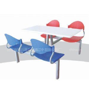 供应四连体快餐桌椅     江中餐桌椅