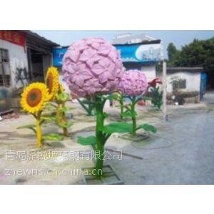 玻璃钢仿真花批发 树脂玻璃钢雕塑花朵厂家