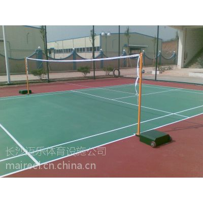 供应湖南攸县茶陵江西萍乡硅pu羽毛球场硅pu球场塑胶球场
