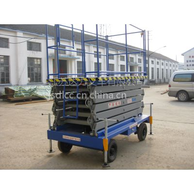 达力牌移动式升降平台SJY0.3-6载重300公斤升高6米/手推电升高空作业平台