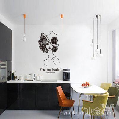 三代可移除墙贴壁纸客厅大堂卧室餐厅玄关/性感美女JM8311