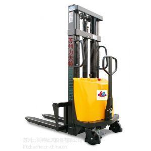 供应厂家直销电动液压叉车 小型半电动堆高车 手推电动升降叉车