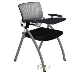 格友家具供应高档带写字板折叠网布培训椅铝合金连接件,vigo chair培训椅厂家