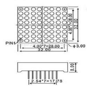 供应供应LED 1088ASR/BSR点阵模块