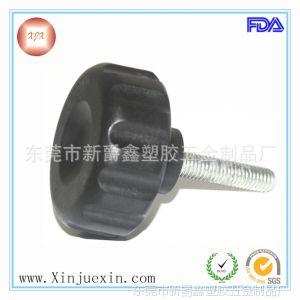 供应50mm-m8*35mm尼龙 不锈钢螺丝直纹塑料可调把手 直纹把手 把手