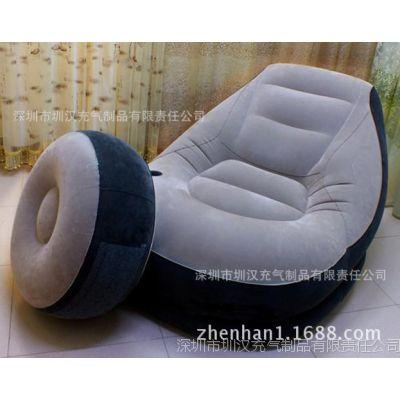 专业生产环保pvc单人充气沙发躺椅折叠床懒人休闲气垫沙发床套装