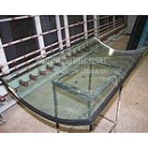 供应8+6A+8弯钢中空玻璃