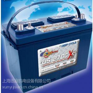 供应美国US 27DCXC蓄电池 12伏 自动洗地机电瓶 洗地吸干机电瓶