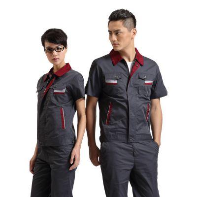 供应广州工作服定做 厂服工装定做 男女短袖工作服定做