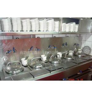 供应真功夫餐厅设备-蒸汽五头蒸锅台