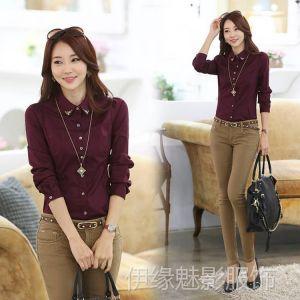 供应6605春装新款 韩版女装职业装修身大码衬衫女长袖打底衫 潮