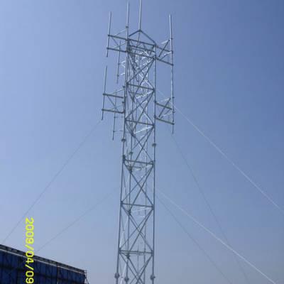 供应楼顶通讯增高架,天线增高架,带拉线的天线增高架