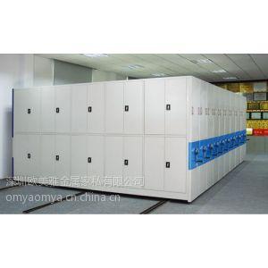 供应深圳手摇密集柜生产厂家| 定做档案资料存储密集柜|银行用密集柜