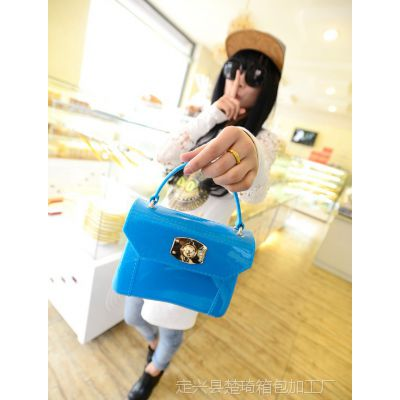 2014夏季新款奇彩系列包纯色包果冻包时尚潮流糖果色单肩手提女包