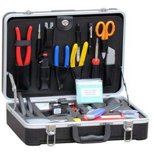 供应瑞徽专业型光缆施工工具箱RE-6006,CFS-2双口米勒钳,横向光缆开剥刀,光纤清洁布