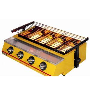 供应四头燃气环保烧烤炉,燃气烧烤炉,烧烤机 款式多