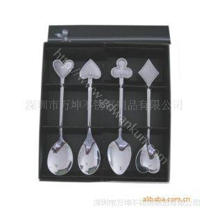 供应情侣心形勺,创意扑克餐具,时尚广告礼品勺子