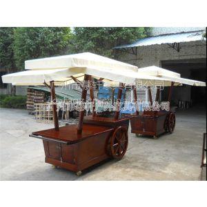 供应订做运城步行街木制售卖车 广州美食售货车价格