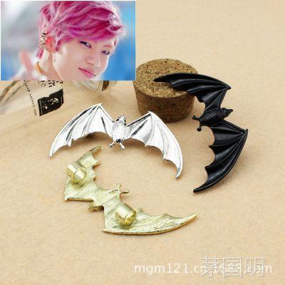 Infinite 张东雨 Special Girl同款蝙蝠无耳洞耳夹