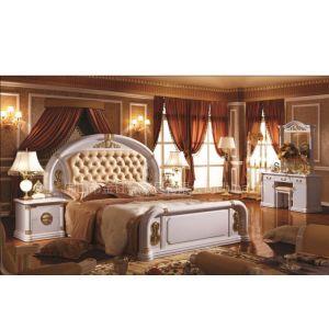 工厂供应欧式套房家具,古典床和衣柜3033#