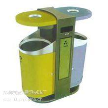洛阳 公园双桶 现代休闲用品 加工实木垃圾桶—振兴
