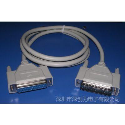 供应针式打印机数据线 25针转25孔并口延长线 1.5米长 25针并口线