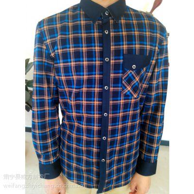 威方制衣厂 保暖衬衣秋冬衬衣加绒外套保暖衬衣加厚衬衣 男式衬衫