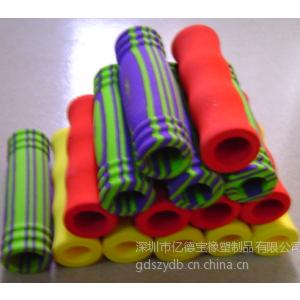 供应厂家直销橡胶发泡管,NBR发泡管,双色发泡管,运动器材手把套